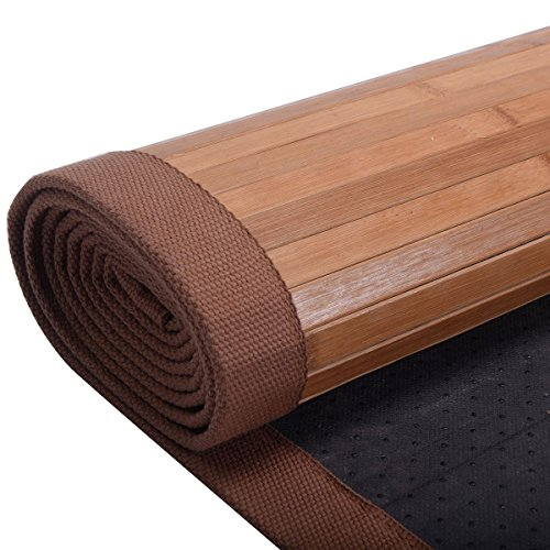 5' X 8' Bamboo Area Rug Floor Carpet Natural Bamboo Wood Indoor Outdoor New Durable Natural Bamboo Construction Easy To Clean And Durable by Unknown (Image #7)