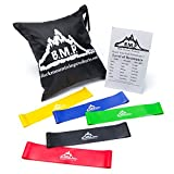 Black Mountain Products Loop Resistance Exercise Bands with Carrying Case (Set of 5)
