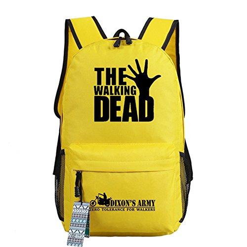 De Hand Bolsa The Mochila 18 Cosplay Casual Dead nbsp;opciones Bolso luminoso Walking Escuela Yellow Zq8rOB8nYw