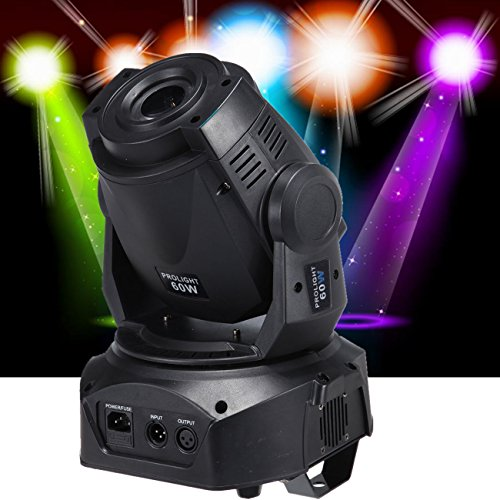 Lighting Theatrical Light (MountainNet 60W LED Moving Head Stage Light 8 Gobo Rainbow 8 Colors 12CH Dmx512 LED Stage Gobo Pattern Lamp w/3 Prism Stage Lighting for Disco KTV Club Wedding Christmas Party)