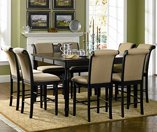 Coaster Cabrillo Casual Dining Room Set with Dining Table and 6 x Bar Stool