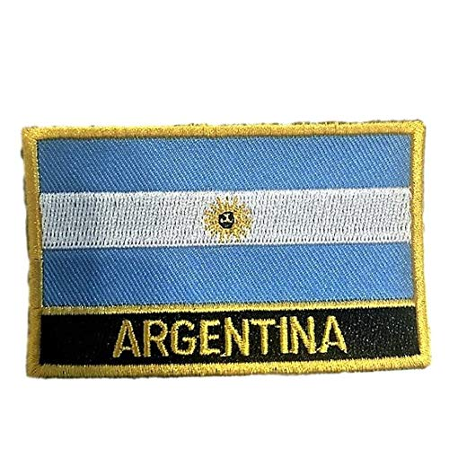 Argentina Flag Sew On Patch (Argentine Iron-On ()
