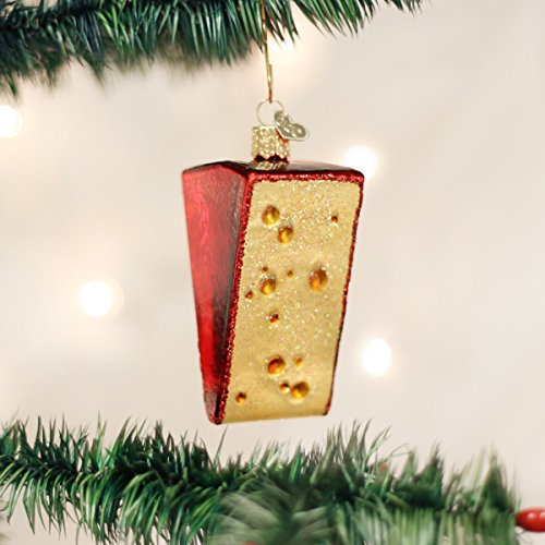 Christmas Cheese - Old World Christmas Cheese Wedge Glass Blown Ornament