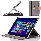 MoKo Microsoft Surface Pro 3 Case - Slim-Fit Multi-angle Folio Cover Case for Microsoft Surface Pro 3 12 Inch Tablet, Carbon Fiber PURPLE