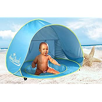 MonoBeach Baby Beach Tent Pop Up Portable Shade Pool UV Protection Sun Shelter for Infant  sc 1 st  Amazon.com & Amazon.com: Baby Pop-Up Beach Tent with Pool u0026 Bonus Beach Ball ...