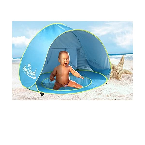 51yMF%2BDPONL. SS600  - Monobeach Baby Beach Tent Pop Up Portable Shade Pool UV Protection Sun Shelter for Infant