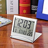 New Desk Digital LCD Thermometer Calendar Alarm Clock flexible cover OY
