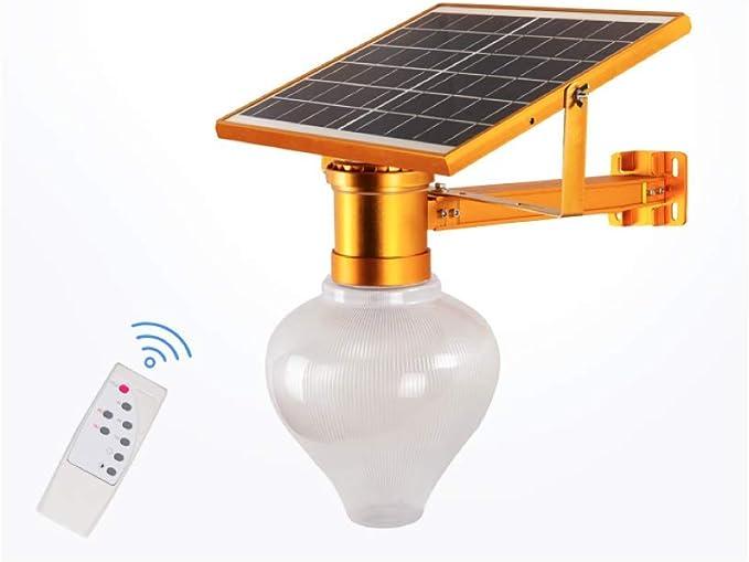 CursOnline® - Lámpara LED de jardín con panel solar y batería recargable de 15 W con