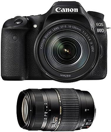 CANON EOS 80D + 18-135 IS USM + TAMRON 70-300 DI: Amazon.es ...