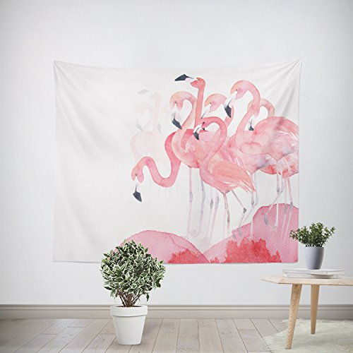 Flamingos Tapestry Wall Hanging Tropical Wall Decor Pink Simple Home Art Bedroom Living Room Dorm Decor 79X59 (Flamingo Wall Hanging)