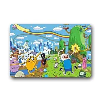 """ScottShop Custom Adventure Time Doormat 23.6""""(L) x 15.7""""(W) Home Decor Indoor/Outdoor/Shower/Floor/Bathroom Mat Rug"""