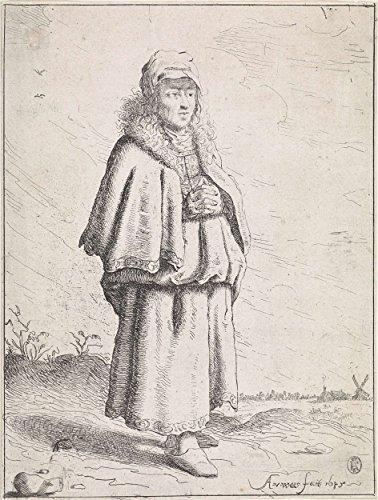 Classic Art Poster - Woman with folded hands, Aert van Waes, 1645