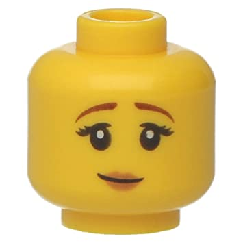 Lego Yellow Female Minifig Head x 10 2 of each