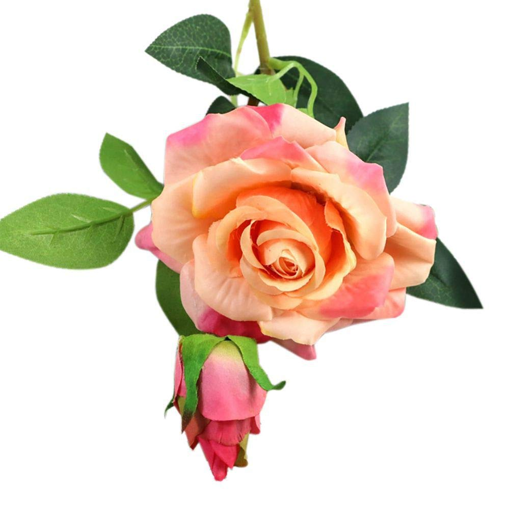 Adarl-1pc-Artificial-Rose-Flower-Fake-Silk-PU-Feel-Moisturizing-Rose-Flower-Bouquet-for-Home-Office-Decor-Party-Festival-Wedding-Decoration-Champagne