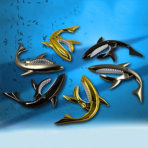 HOT SALE Colorful Creative Shark Zinc Alloy Guitar Ukulele Generic Capo (Silver Shark)