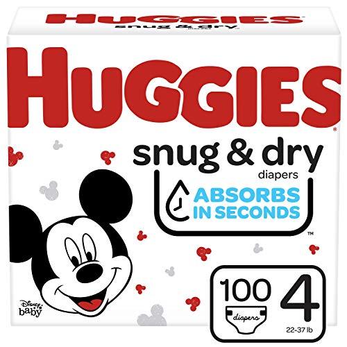 Huggies Snug & Dry Baby Diapers, Size 4, 100 Ct
