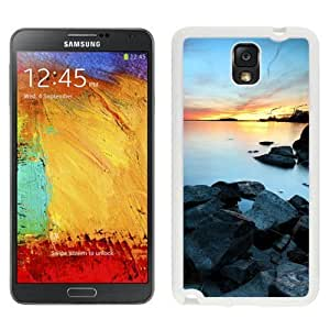 NEW Unique Custom Designed For Case Samsung Galaxy S5 Cover Phone Case With Industrial Town Lake Sunset_White Phone Case