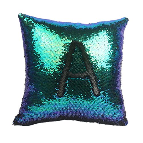 GODPASS Creative throw pillowcases with Mermaid Sequin Fabric Pillow Sham Pillow for car, Gifts for Girls 16