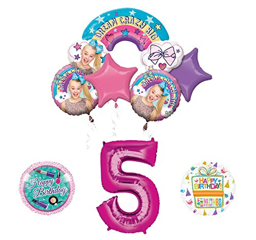 Mayflower Products JoJo Siwa 5th Birthday Balloon Bouquet Decorations and Party -