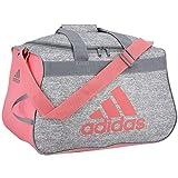adidas Diablo Small Duffel Bag, Jersey Grey/Hazy Rose/Grey, One Size