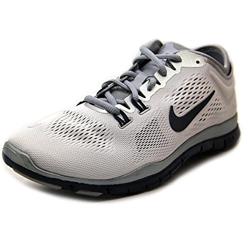 Nike Womens Free 5.0 Tr Fit 5 Prt Training Shoe Women US, White/Navy/Gray/Platinum, 42.5 B(M) EU/8 B(M) UK