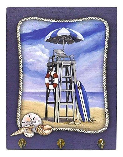 Lifeguard Chair Beach Scene Key Hook Wall -