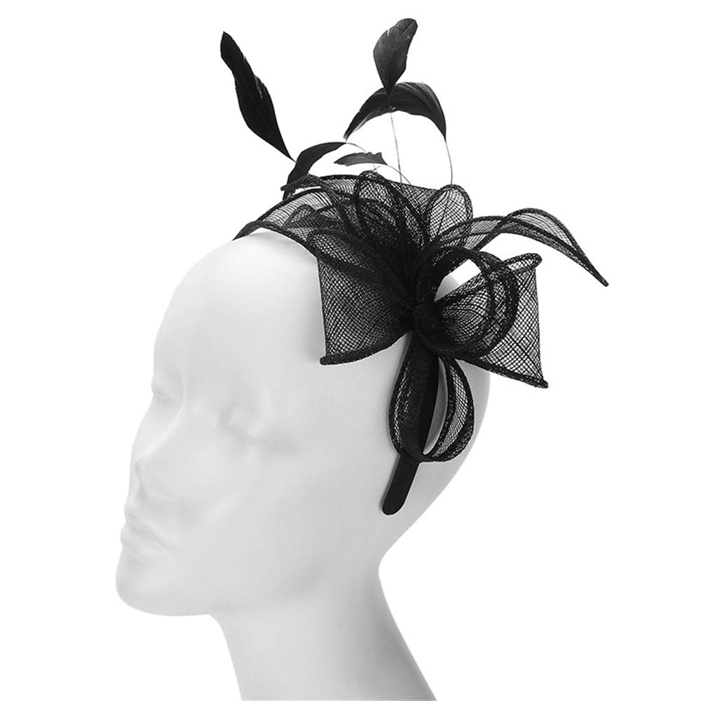 Women's Fascinators Hat Hair Clip Feather Wedding Headware Bridal Top Hat 1920s Headpiece for Ladies.