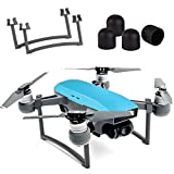 KUUQA Landing Gear Leg Height Extender Set with 4 Pcs Silica Gel Motor Guard Protective Cover Accessories Compatible with Spark