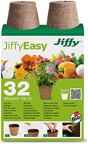 Jiffy 005388 - Maceta Biodegradable (Circular): Amazon.es: Jardín