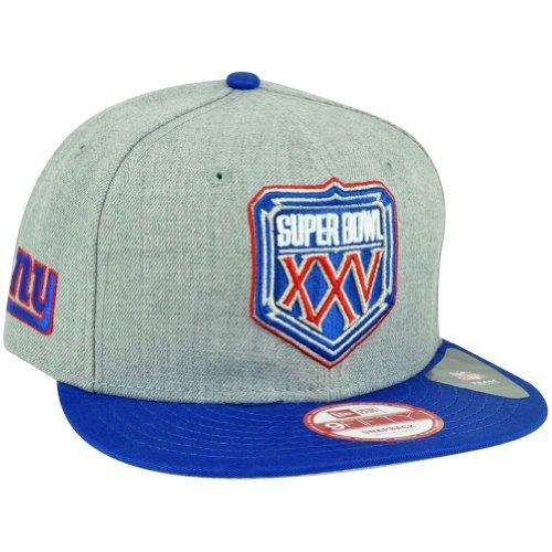 NFL New Era 9Fifty NY New York Giants Super Bowl Patch XXV Snapback Hat Cap M/L