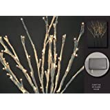 Floral Lights Lighted Willow Branch with snow (set of 3 Branches) with 96 bulbs, 40 inches