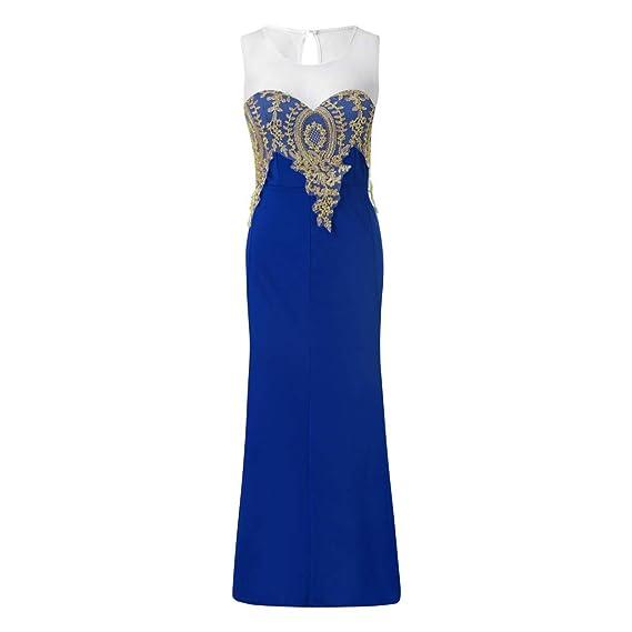 OPAKY Vestido de Fiesta Largo de Noche para Mujer Formal Vestido ...