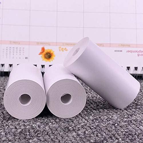 Peanutaso Papel Adhesivo imprimible de 5 Rollos Papel térmico Directo 57x30 mm para Impresora de Bolsillo portátil PAPERANG: Amazon.es: Hogar