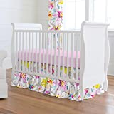 Carousel Designs Watercolor Floral Crib Skirt Gathered 20-Inch Length