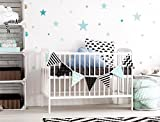 Wall Tattoo / Children's Room Wall Sticker Set, Pastel Stars in fabulous blue and Green