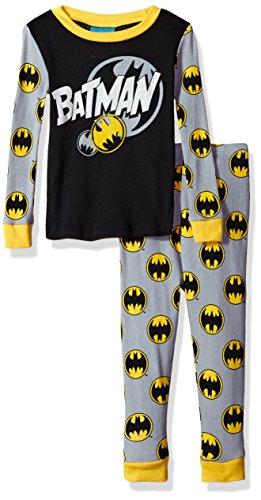 DC Comics Boys Batman Superhero 2-pc Pajama Set, Long Sleeve Top with Pant