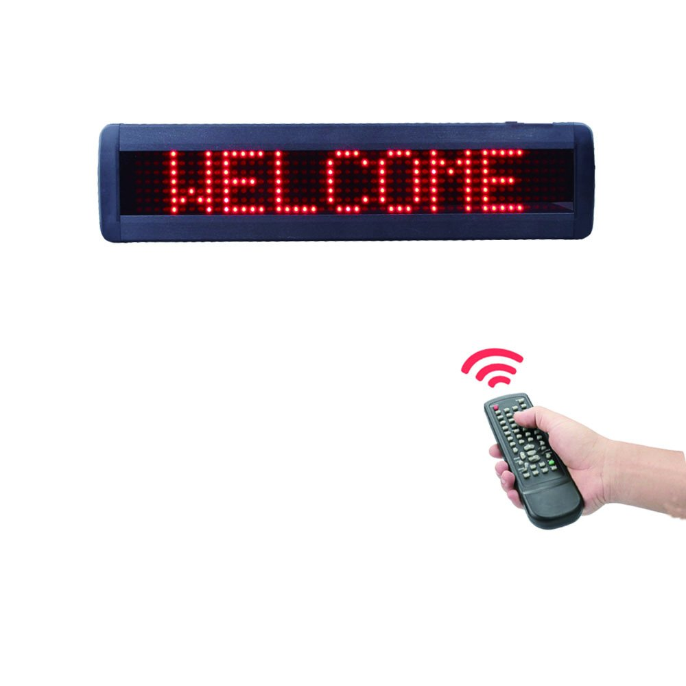 Programmable LED Scrolling Message Display High Resolution LED Car Sign DMP LED Message Board with Password Protection (26x4 inches) by HIDLY