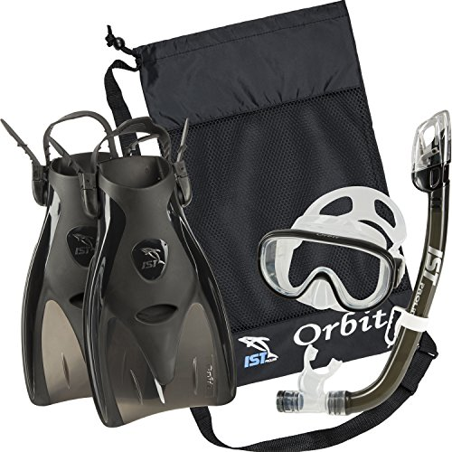 IST Orbit Snorkel Set (Black, Large (8-10))