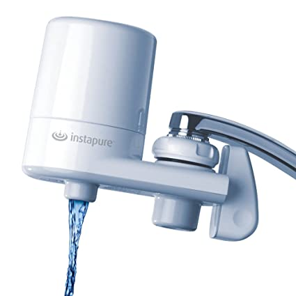 InstaPure F5GWW3P-1ES Faucet Mount Water Filter System, White - On ...