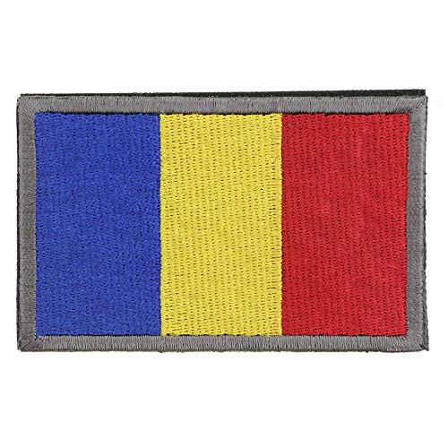 (New-Hi Full Embroidery European Countries Romania Flag Armband Tactical Morale Patch Attach Sewing Badge Fabric Cloth with Hook and Loop)