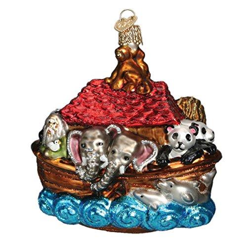 Old World Christmas Ornaments: Noah's Ark Glass Blown Ornaments for Christmas Tree (Noahs Christmas Ark)