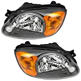 hyundai accent headlight assembly - Driver and Passenger Headlights Headlamps Replacement for Hyundai 92101-25550 92102-25550