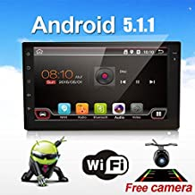 EinCar 7 inch Android 5.1.1 Car Stereo Lollipop Capacitive Touch Screen in Dash Auto Video Headunit support GPS Navigation Radio Bluetooth OBD2 USB SD WiFi Screen Mirror Backup Camera