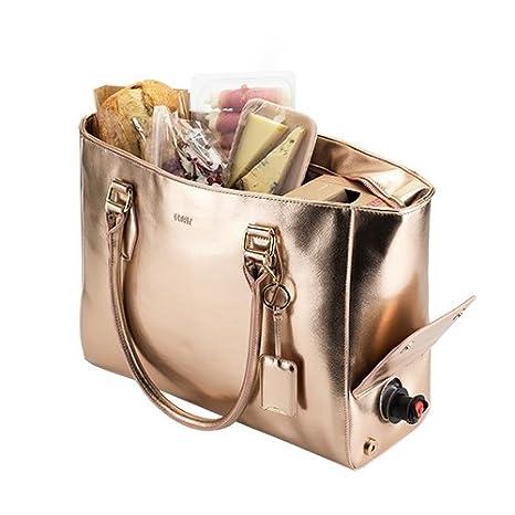 Amazon.com: Bolsa de mano para vino con llavero para abrir ...