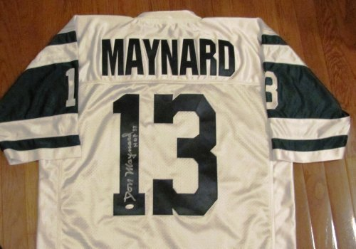Maynard Autographed New York Jets - Don Maynard Autographed White Jersey - New York Jets - Hall of Fame