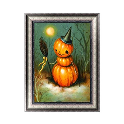 OHTOP 5D Diamond Painting,DIY Halloween Pumpkin Embroidery Cross Stitch Craft Home Decor (Halloween Pumpkin Drawing Step By Step)