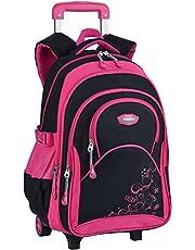 COOFIT Rolling Backpack for Girls Roller Backpack Kids Wheels School Backpack