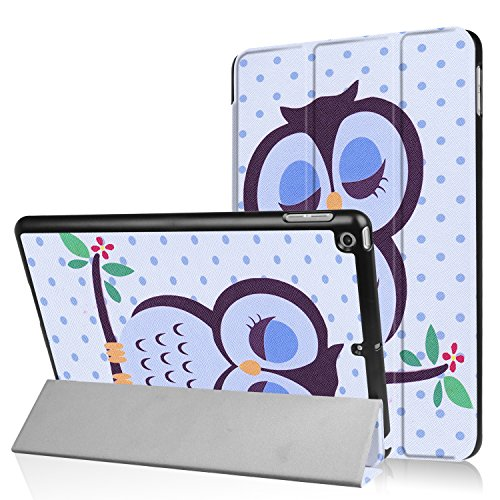 iPad 9.7 2018/2017 Case, UZER Colored Drawing Series Ultra Slim Lightweight PU Leather Smart Case Protective Folio Trifold Stand with Soft TPU Back Cover for Apple iPad 5th/6th Generation 9.7 Inch