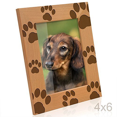 Kate Posh - Doggie Paw Prints Wooden Picture Frame - Frame Dog