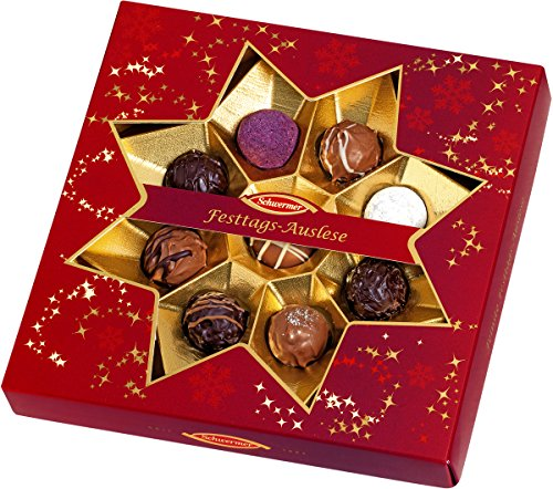 Schwermer Christmas Star Window Gift Box with Truffles